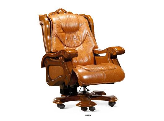 实木老板椅slb-003--森拉堡实木系列--武汉雅格兰家具
